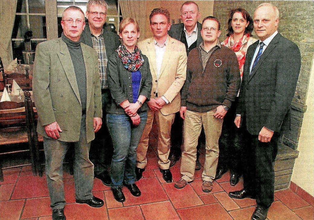 Vorstand des CDU-Gemeindeverdans Raesfld-Erle-Homer 2013