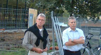 Peter Büning, Projektbeauftragter des Kreises Borken und Bürgermeister Udo Rößing