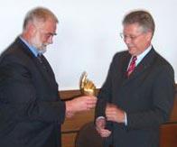 Altersvorsitzender Holger Lordieck und Bürgermeister Udo Rößing
