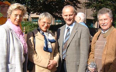 Die Gemeindeverbands-Vorsitzende Diana Brömmel, Elke Wülfing, MdB, Johannes Röring, erstmals Kandidat der CDU für den Wahlkreis Borken II und Raesfelds Bürgermeister Udo Rößing