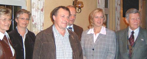 Inge Lütten, Maria Brömmel, Georg Grunden, Johannes Röring, MdB, Diana Brömmel, Paul Nattefort (v. l. n. r.)